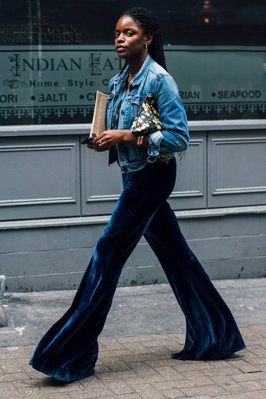 7 Reasons You Need A Pair of Velvet Flares | Velvet flare pants .
