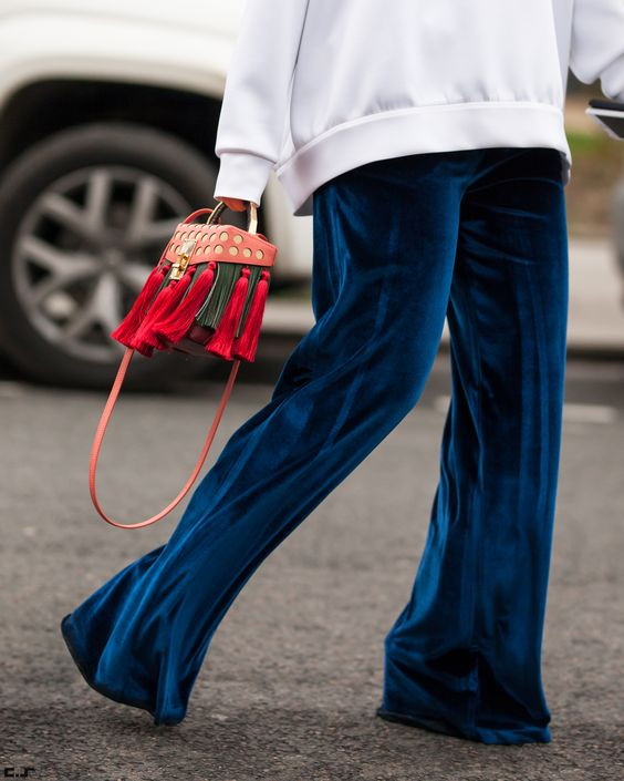 Velvet Obsession: How to Wear Velvet Pants - FMag.c