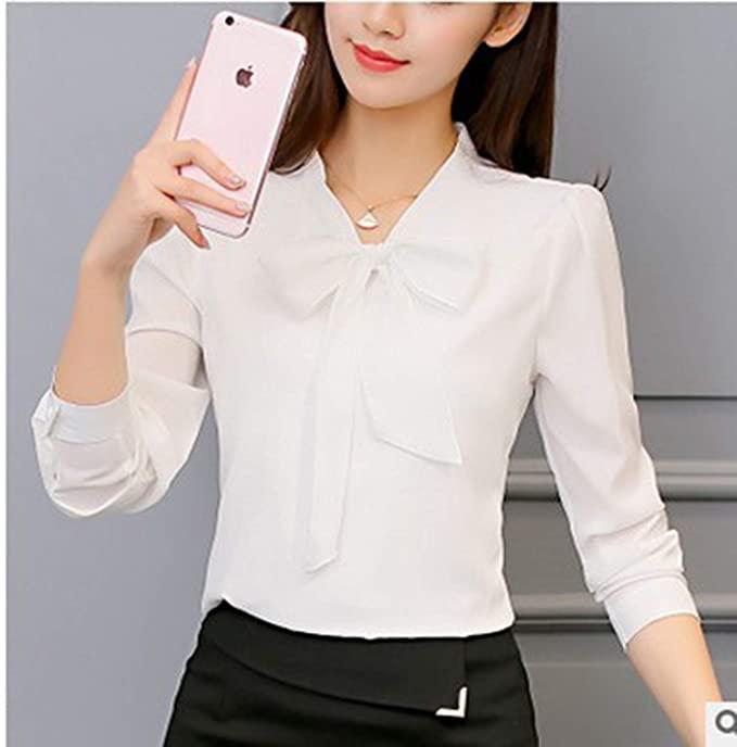 toe34bf latest chiffon long sleeved white chiffon blouse white .