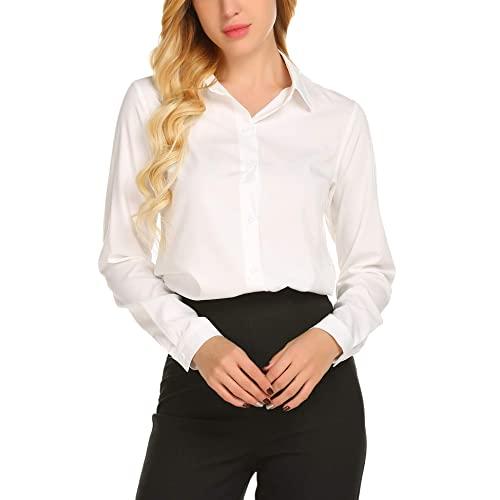 White Chiffon Shirt: Amazon.c