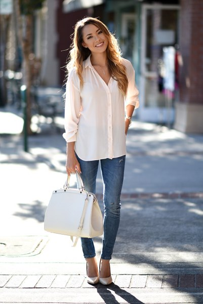 14 Best Tips on How to Wear White Chiffon Blouse - FMag.c