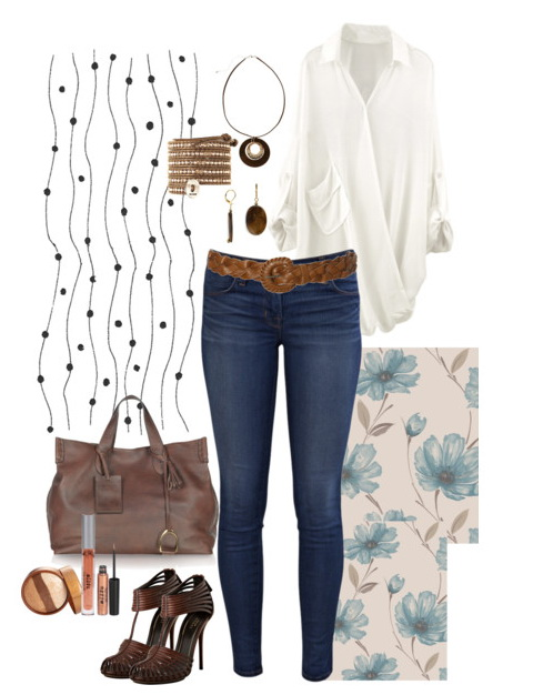 How To Wear Long Loose Blouse - Foto Blouse and Pocket .