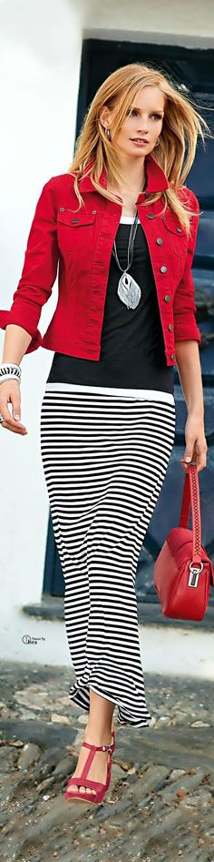 33 Best Striped Skirt outfit images | Stripe skirt, Cute outfits .