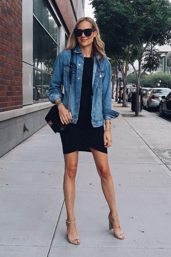 Best Oversized Denim Jacket Outfit Ideas 2020 - LadyFashioniser.c