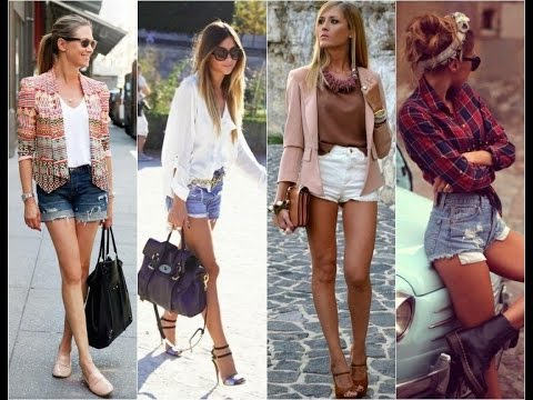 outfits with denim shorts 2017 - YouTu