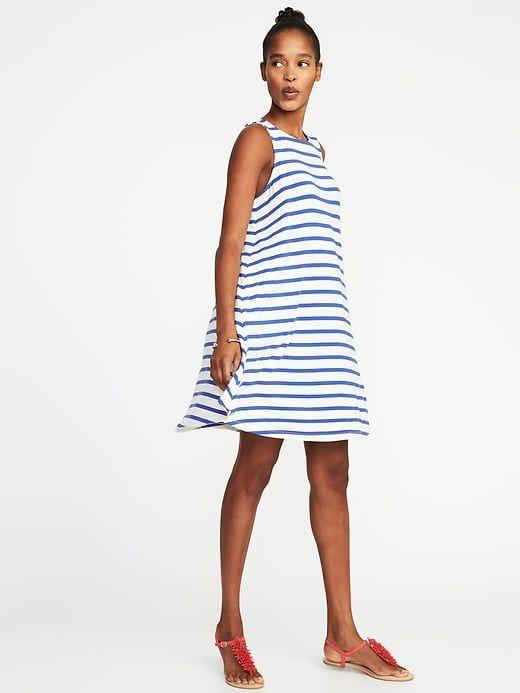 Jersey-Knit Sleeveless Swing Dress for Women   My Style .