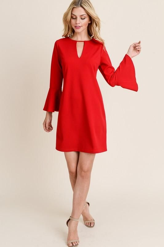 Red keyhole dress-medium | Cocktail party outfit, Girls night out .