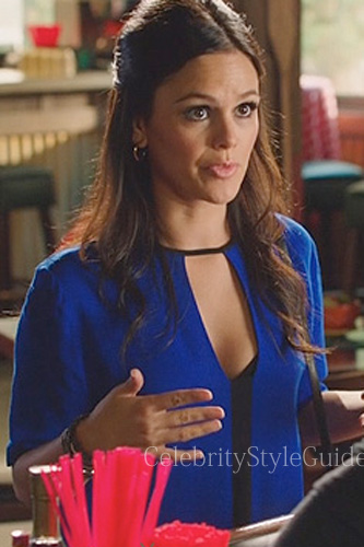 Hart of Dixie style Zoe Hart Blue and Black Keyhole Cutout Top .
