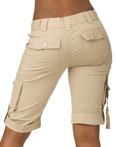 2012 Trendy Women's Cargo Shorts | Cargo shorts women, Shorts, Cloth