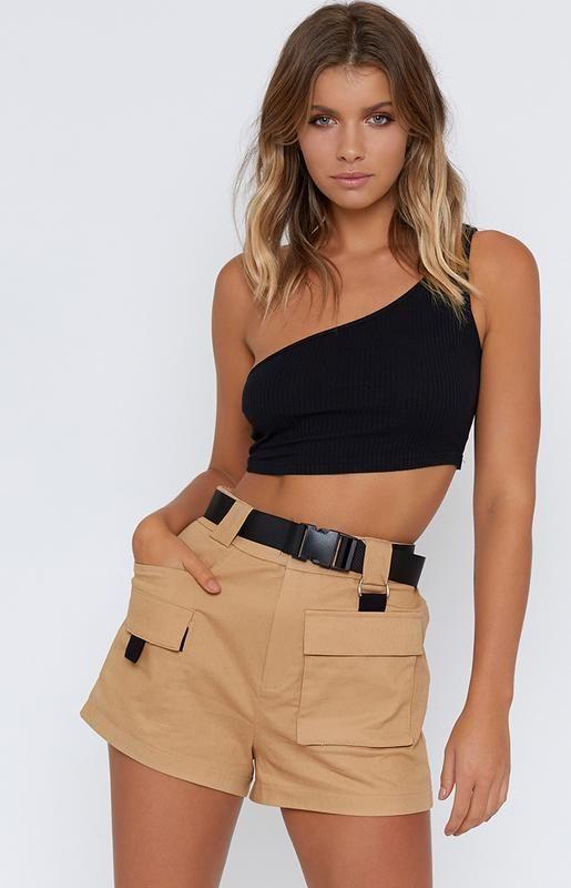 I.AM.GIA Harper Shorts Tan | Shorts outfits women, Shorts outfits .