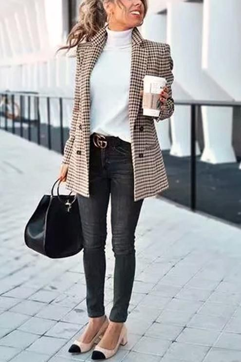 Chic Khaki Suit Blazer | Best business casual outfits, Summer work .