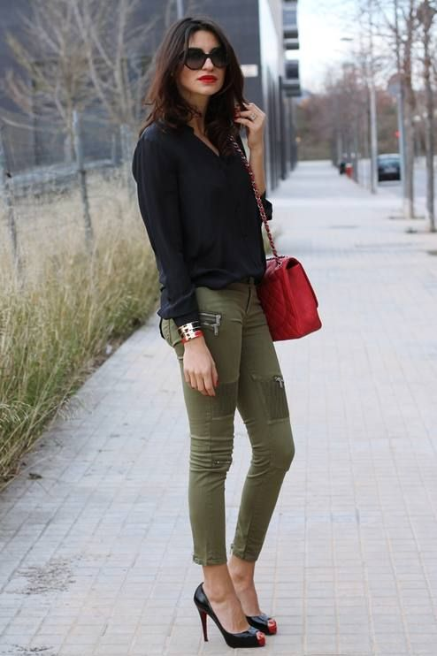10+ Cozy Winter Outfits To Copy ASAP | Fashion, Khaki skinny jeans .