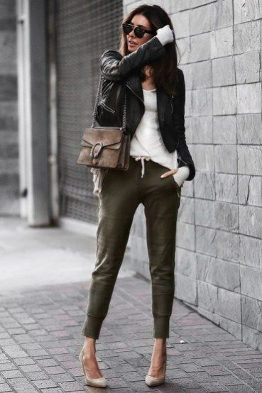 42 Stylish Womens Jogger Outfits Ideas For Winter | Sporty outfits .