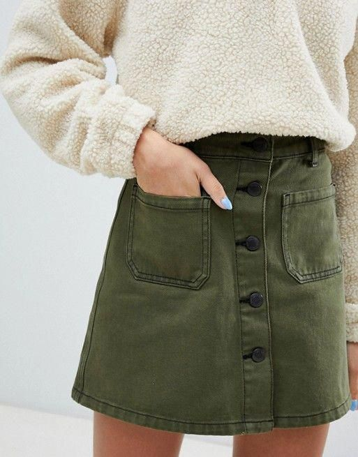 5+ Charming fall skirt | Fashion, Khaki skirt outfi