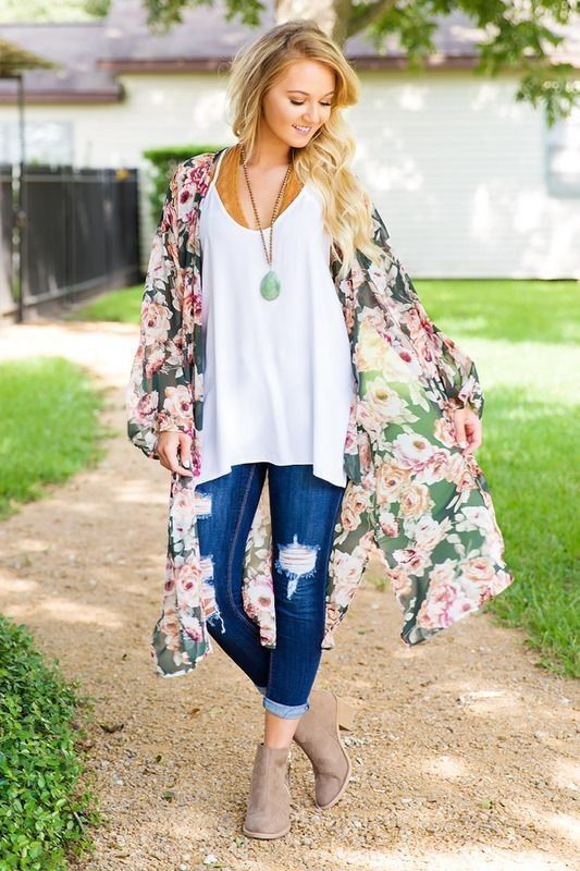22 Outfit Ideas With Kimonos | Glam is Here | Summer fashion .