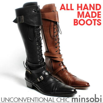 minsobi: ! -Leather lace-up boots long mens, mens knee high boots .