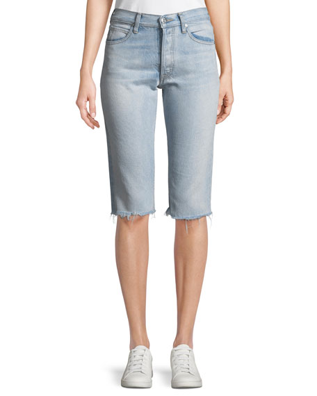 Helmut Lang Cutoff Knee-Length Denim Shor
