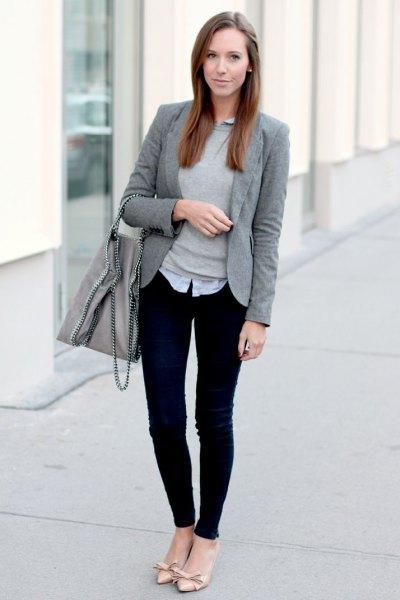 How to Wear Grey Blazer for Women: 15 Amazing Ideas - FMag.c
