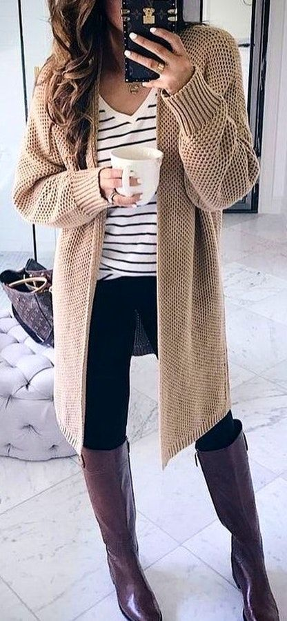 46 Cheap Cardigan Outfit Ideas for Fall and Winter | Warm outfits .