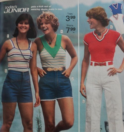 1973 casual knit tops, tank top, V neck top | 70s outfits, 70s .