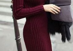 Fashion Ribbed High Neck Long Sleeve Knit Long Sweater | Long knit .