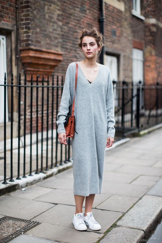 19 Outfit Ideas to Wear Your Knit Dress