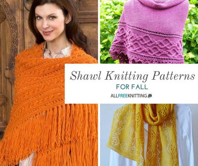 20+ Shawl Knitting Patterns for Fall | AllFreeKnitting.c
