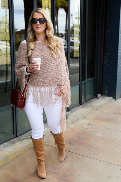 How to Style Knitted Shawl: Top 13 Cozy Outfit Ideas for Women .