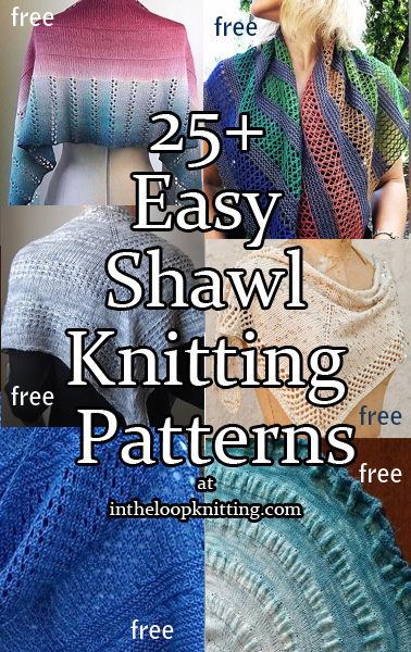 Easy Shawl Knitting Patterns - In the Loop Knitti