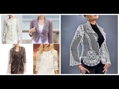 Stylish Lace Jacket Blazer Coat Outfit Designs Ideas 2019-20 - YouTu
