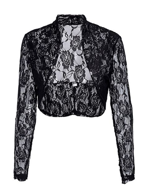 Plain Lace Shrug Cropped Womens Cardigan in 2020 | Women, Capes .