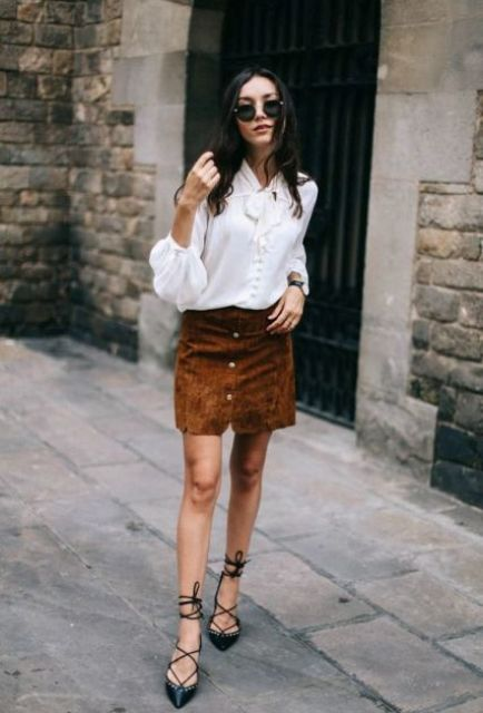 Picture Of Outfit Ideas With Lace Up Flats For This Season