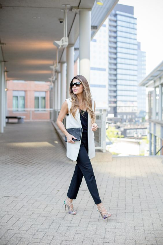 How To Wear A Long Vest to Work: 15 Ideas - Styleohol
