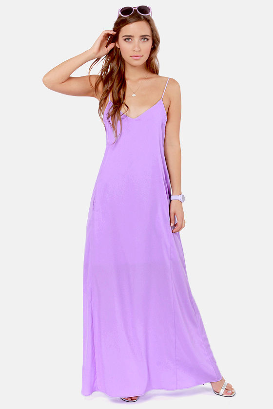 Cute Lavender Dress - Maxi Dress - $54.