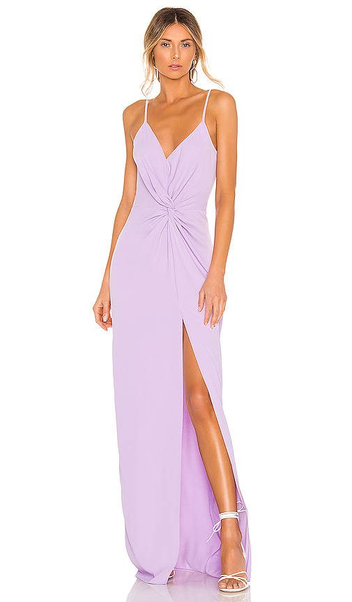 Amanda Uprichard Ellie Maxi Dress in Lavender | REVOL