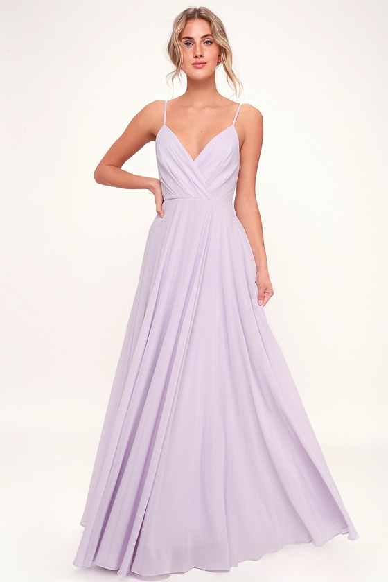 Lovely Lavender Dress - Maxi Dress - Gown - Bridesmaid Dre
