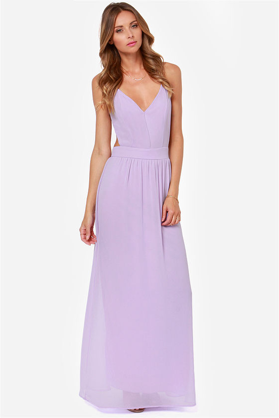 Sexy Backless Dress - Lavender Dress - Maxi Dress - $49.