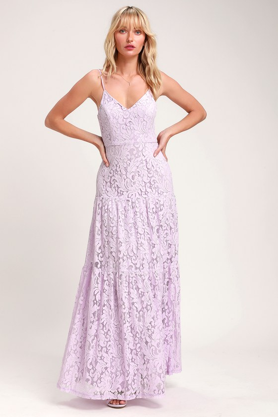 Lovely Lavender Dress - Lace Maxi Dress - Sleeveless Maxi Dre