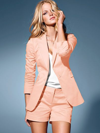 Perk Up Your Spring Palette with Long & Lean One-button Jacket in .