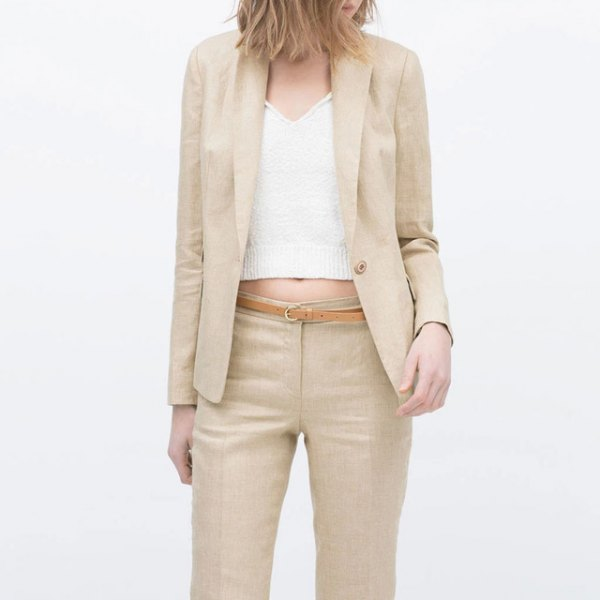 15 Cozy & Lean Cotton Blazer Outfit Ideas for Ladies - FMag.c
