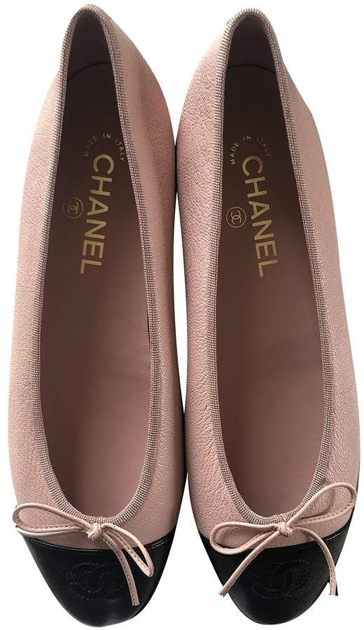 Chanel Pink Leather Ballet flats in 2020 | Pink leather ballet .