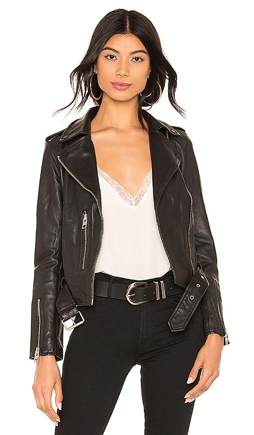 ALLSAINTS Balfern Leather Biker Jacket in Black | REVOL