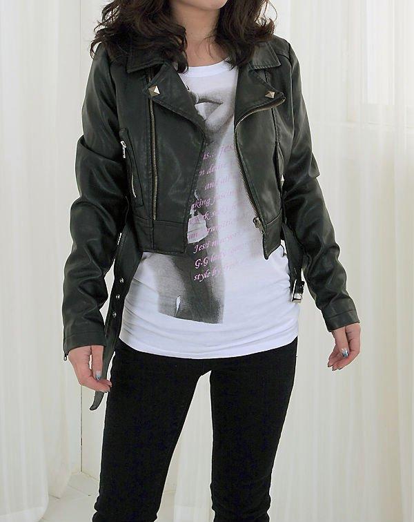 Women Faux Leather Biker Jacket - Buy Faux Leather Jacket .