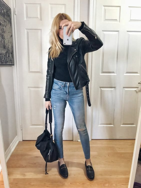 5 Best Leather Jacket Outfit Ideas to Copy N