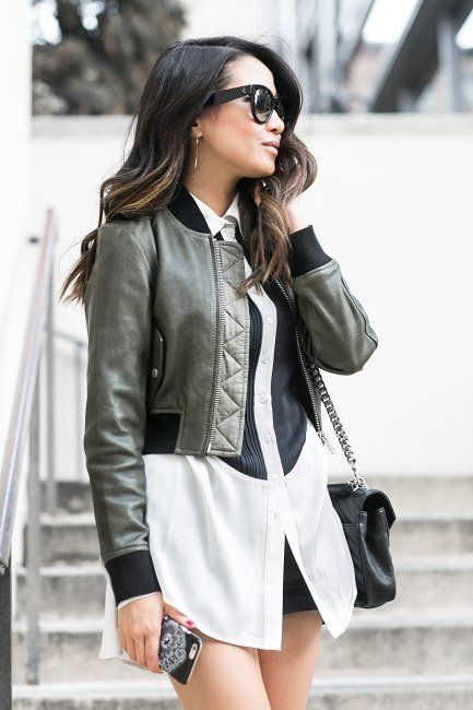 Leather Bomber Jacket Outfits For Women – 26 Styling Ideas .