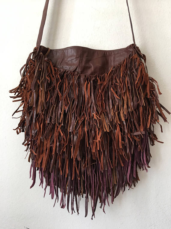 Real crossbody bag handmade bag soft&genuine leather with elements .