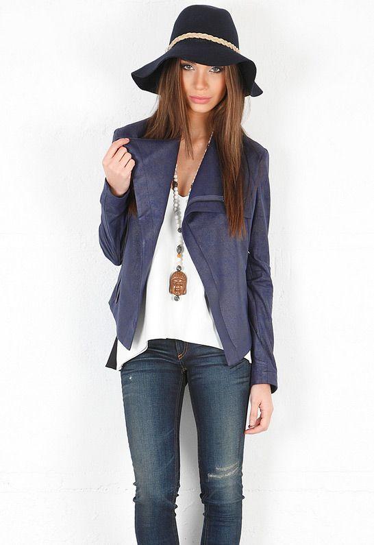 SW3 Bespoke Queensway Faux Leather Zip Jacket in Na
