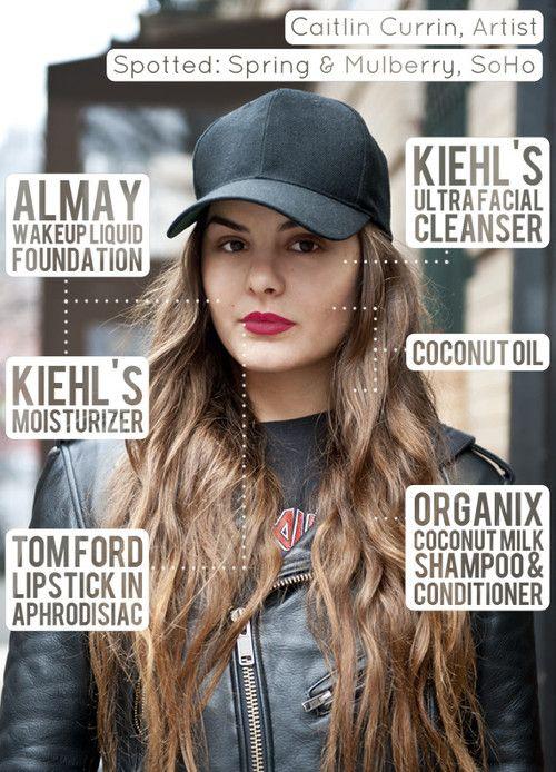 Caitlin Currin, Artist, Wears Baseball Cap And Tom Ford Lipstick .