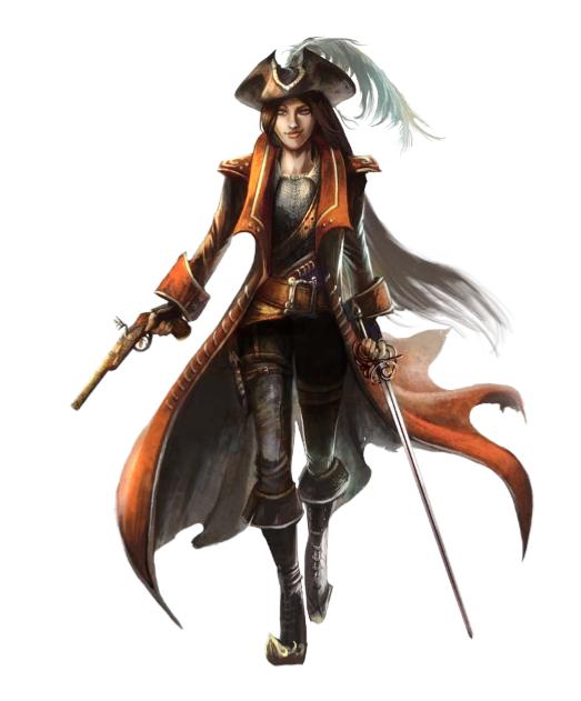 Female Rogue Gunslinger - Pathfinder PFRPG DND D&D d20 fantasy .