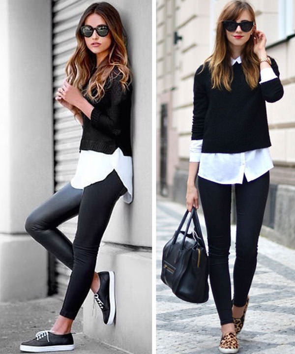 18 Cute Ways to wear Leggings in Style- Outfit Ideas - LooksGud.